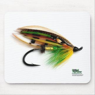 Green Highlander salmon fly mousepad