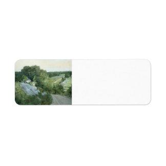 Green Hills and Farmland by Julian Alden Weir Custom Return Address Labels