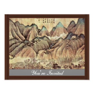 Green Hills And White Clouds By Kao K'O-Kung (Best 4.25x5.5 Paper Invitation Card