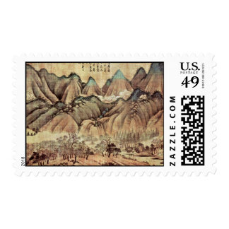 Green Hills And White Clouds By Kao K'O-Kung (Best Stamp