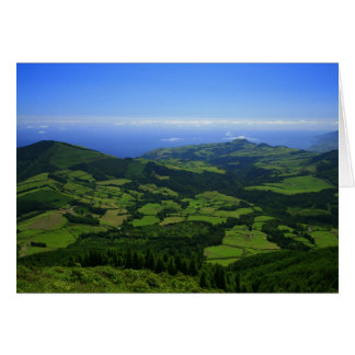 Green hills - Azores islands Greeting Cards