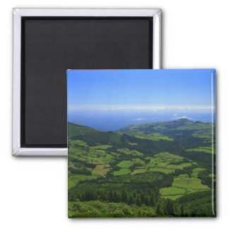 Green hills - Azores islands 2 Inch Square Magnet