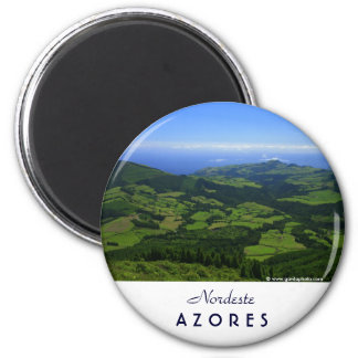 Green hills - Azores islands 2 Inch Round Magnet