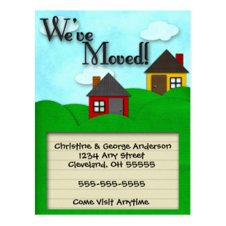 Green Hills Moving Announcement Postcard