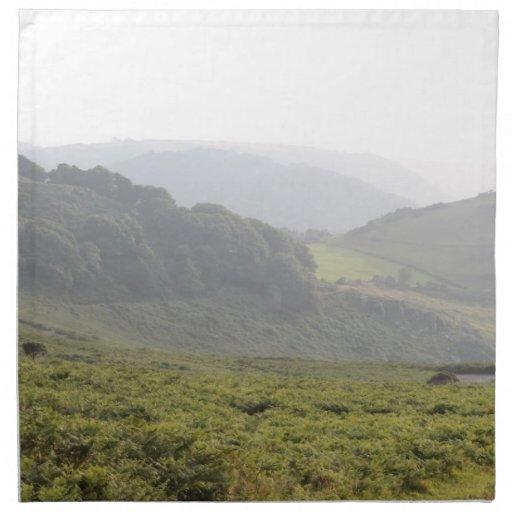 Green Hills with Mist. Cloth Napkins