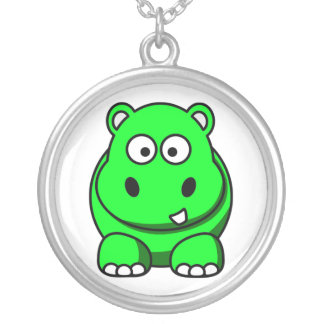 Green Hippo Necklace