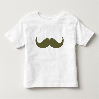 Green Hipster Mustache Toddler Tee