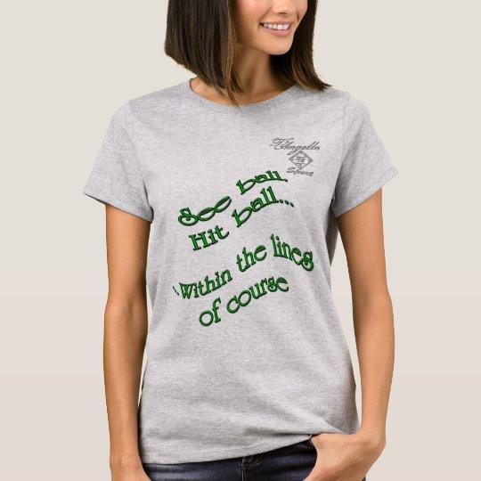 green hit ball Tennis Women's Basic T-Shirt