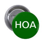 Green HOA Home Owners Association Button
