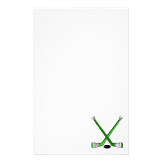 Green Hockey Stationery