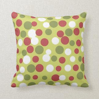 Green Holiday Dots Pillow