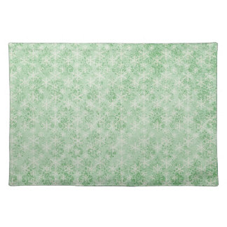 Green Holiday Snowflake Placemat