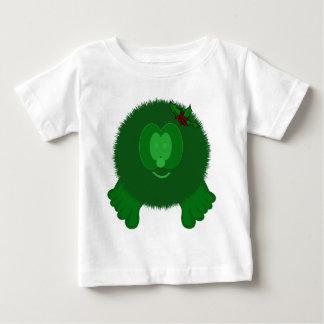 Green Holly Bow Pom Pom Pal Baby T-Shirt