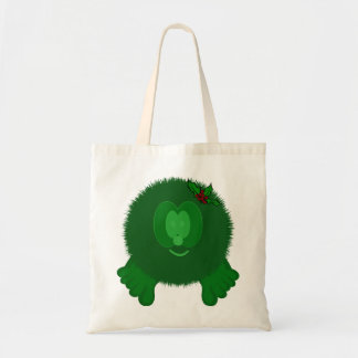 Green Holly Bow Pom Pom Pal Bag