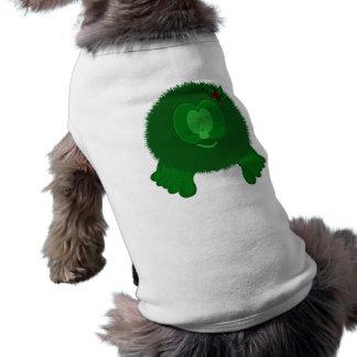 Green Holly Bow Pom Pom Pal Dog Tee