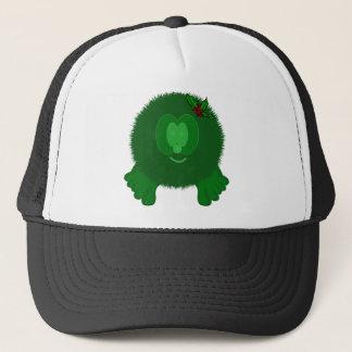 Green Holly Bow Pom Pom Pal Hat