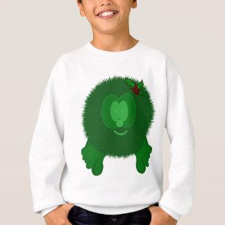 Green Holly Bow Pom Pom Pal Sweatshirt