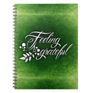 GREEN HOLLY FEELING GRATEFUL WINTER SPIRAL NOTEBOOK