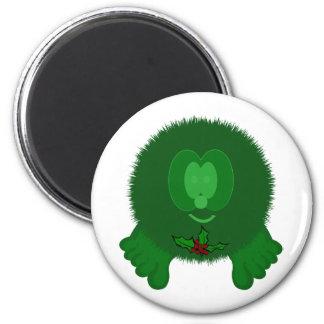 Green Holly Tie Pom Pom Pal Magnet