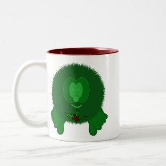 Green Holly Tie Pom Pom Pal Mug