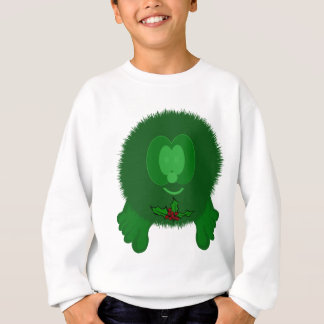 Green Holly Tie Pom Pom Pal Sweatshirt