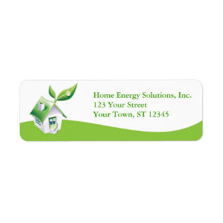 Green Home Concept Label