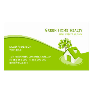 Green Home Real Estate business card