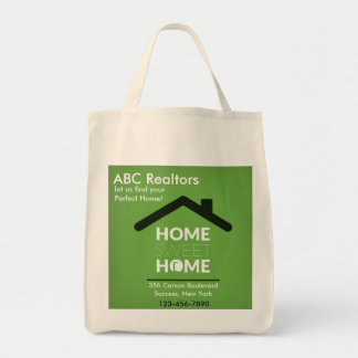 Green Home Sweet Home Grocery Tote