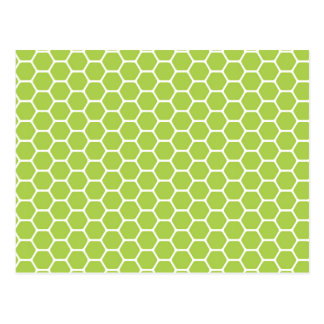 Green Honeycomb Postcard