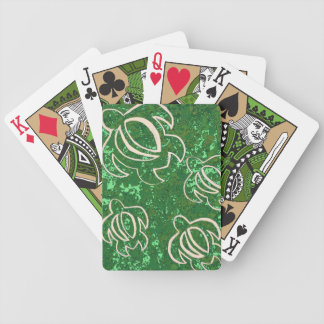 Green Honu Bicycle Playing Cards