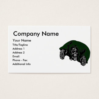 Green Hooded Reaper Business Card