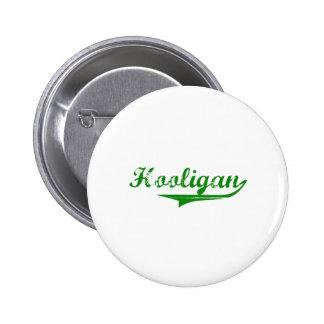 "Green ""Hooligan"" design Button"