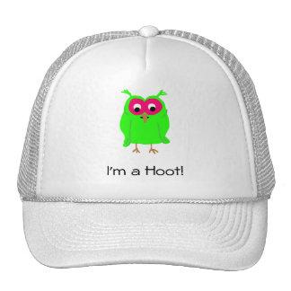 Green Hoot Owl Trucker Hat