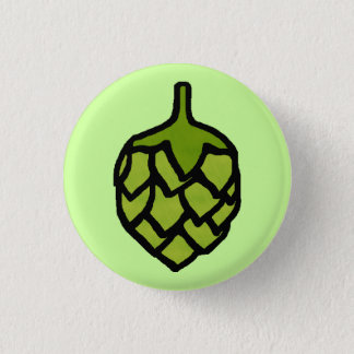 Green Hops Plant Beer Button