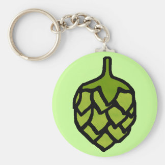 Green Hops Plant Beer Keychain
