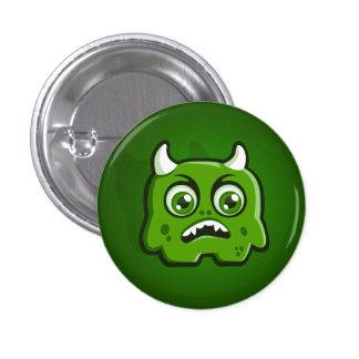 Green Horned Monster Button