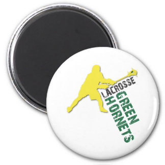 Green Hornet Boys LAX 2 Inch Round Magnet