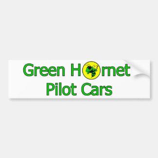 Green Hornet Pilot Cars Bumper Sticker Car Bumper Sticker