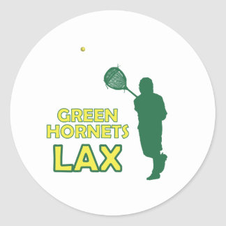 Green Hornets Goalie Clear Classic Round Sticker
