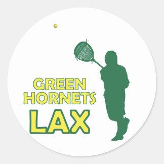 Green Hornets Goalie Clear Classic Round Sticker