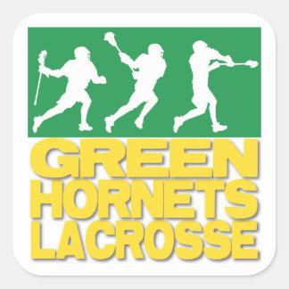 Green Hornets Lacrosse Square Sticker