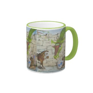 Green Horse and Dragon Mug