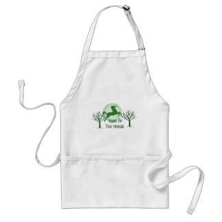 Green Horse And Moon Adult Apron
