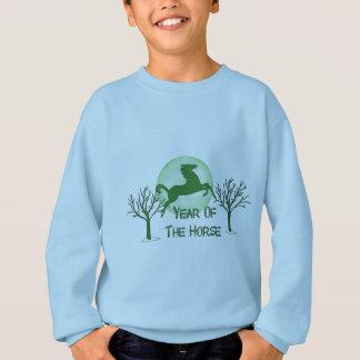 Green Horse And Moon Sweatshirt