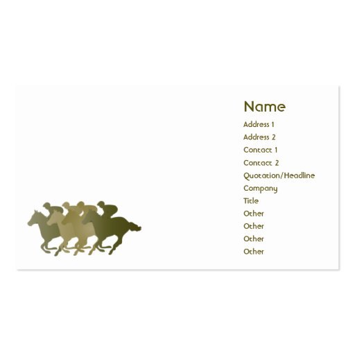Green horse business business card zazzle for Brother business card templates