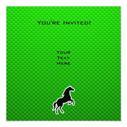 Green Horse Card