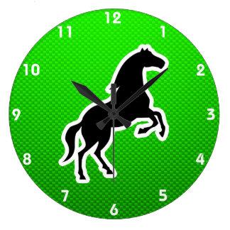 Green Horse Round Wallclock