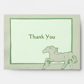 Green Horse Greeting Card Envelope