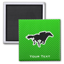 Green Horse Racing Magnet