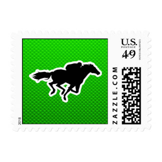 Green Horse Racing Postage Stamps